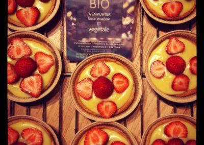Pâtisserie bio et vegan à Caen - Tartelettes aux fraises